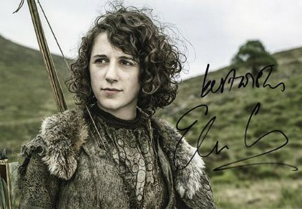 Ellie Kendrick, Game of Thrones, signed 12x8 inch photo.(2)